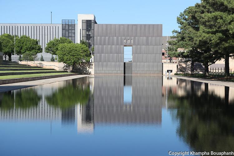 Oklahoma National Memorial, photographed June 6, 2020 at Oklahoma City, Oklahoma. (Photo by Khampha Bouaphanh)
