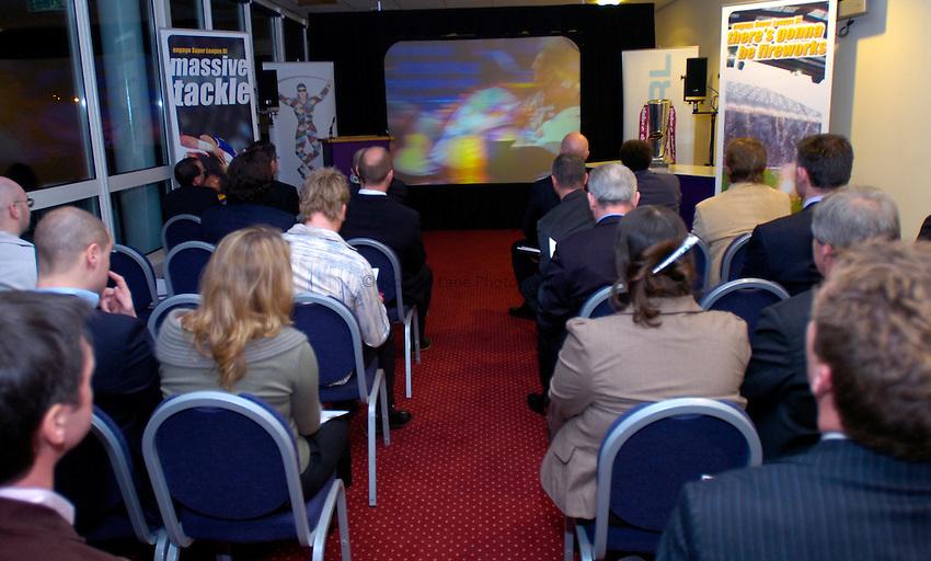 Photo: Richard Lane..Rugby League Engage Super League Launch. 07/02/2006. .Press conference GV.