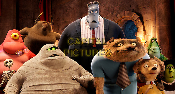 Some of the guests at the castle .in Hotel Transylvania (2012).*Filmstill - Editorial Use Only*.CAP/NFS.Supplied by Capital Pictures.