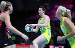 29/10/17 Fast5 2017<br /> Fast 5 Netball World Series<br /> Hisense Arena Melbourne<br /> Australia v New Zealand<br /> Kate Shimmin<br /> <br /> <br /> <br /> <br /> Photo: Grant Treeby