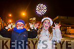 The Highlight  for Sophia and Cuba Malima was the fireworks  at the Castleisland Christmas lights Event on Friday