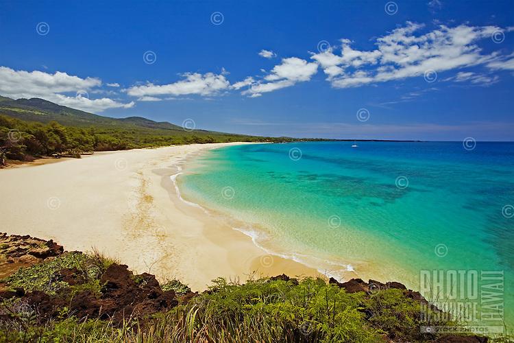 A beautiful day at Big Beach, Makena State Park, Maui.