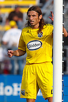24 OCTOBER 2010:  Columbus Crew defender Frankie Hejduk (2) during MLS soccer game against the Philadelphia Eagles at Crew Stadium in Columbus, Ohio on August 28, 2010.