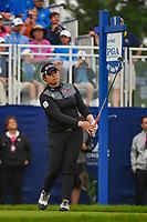 Ariya Jutanugarn (THA) watches her tee shot on 1 during round 4 of the KPMG Women's PGA Championship, Hazeltine National, Chaska, Minnesota, USA. 6/23/2019.<br /> Picture: Golffile | Ken Murray<br /> <br /> <br /> All photo usage must carry mandatory copyright credit (© Golffile | Ken Murray)