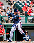 25 February 2019: Atlanta Braves infielder Austin Riley at bat during a pre-season Spring Training game against the Washington Nationals at Champion Stadium in the ESPN Wide World of Sports Complex in Kissimmee, Florida. The Braves defeated the Nationals 9-4 in Grapefruit League play in what will be their last season at the Disney / ESPN Wide World of Sports complex. Mandatory Credit: Ed Wolfstein Photo *** RAW (NEF) Image File Available ***