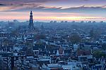 Westerkerk mit dahinter Jordaan, Amsterdam