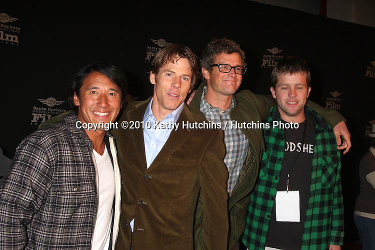 "Danny Moder, Cinematographer & team.arriving at the ""180 Degree South""  World Premiere at the Santa Barbara International Film Festival.Arlington Theater.Santa Barbara, CA.February 10, 2010.©2010 Kathy Hutchins / Hutchins Photo...."