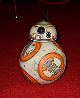 "BB-8 at the world premiere for ""Star Wars: The Last Jedi"" at the Shrine Auditorium. Los Angeles, USA 09 December  2017<br /> Picture: Paul Smith/Featureflash/SilverHub 0208 004 5359 sales@silverhubmedia.com"