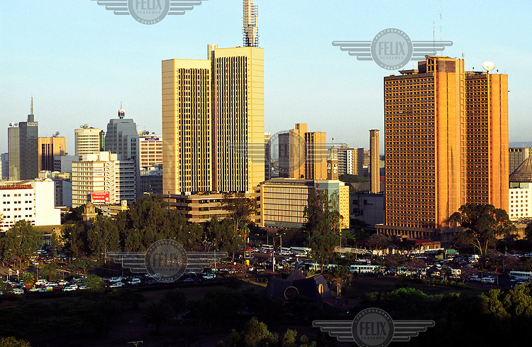 ©Crispin Hughes/Panos Pictures..KENYA Nairobi  2002..Central business district.
