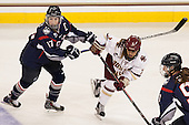 Caitlin Hewes (UConn - 17), Kristyn Capizzano (BC - 7) - The Boston College Eagles defeated the visiting UConn Huskies 4-0 on Friday, October 30, 2015, at Kelley Rink in Conte Forum in Chestnut Hill, Massachusetts.