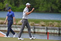 Dustin Johnson (USA) after sinking his putt on 13 during day 2 of the WGC Dell Match Play, at the Austin Country Club, Austin, Texas, USA. 3/28/2019.<br /> Picture: Golffile | Ken Murray<br /> <br /> <br /> All photo usage must carry mandatory copyright credit (© Golffile | Ken Murray)