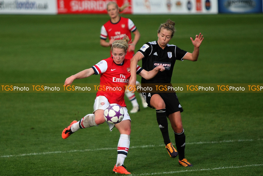 Kim Little of Arsenal Ladies and Reusha Littlejohn of Glasgow City Ladies- Arsenal Ladies vs Glasgow City LFC - UEFA Womens Champions League Round of 16 First Leg Football at the Hive Stadium, Barnet FC, London - 09/11/13 - MANDATORY CREDIT: George Phillipou/TGSPHOTO - Self billing applies where appropriate - 0845 094 6026 - contact@tgsphoto.co.uk - NO UNPAID USE