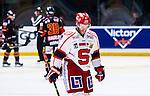 Stockholm 2014-02-24 Ishockey Hockeyallsvenskan Djurg&aring;rdens IF - S&ouml;dert&auml;lje SK :  <br /> S&ouml;dert&auml;ljes Robert Carlsson deppar<br /> (Foto: Kenta J&ouml;nsson) Nyckelord:  depp besviken besvikelse sorg ledsen deppig nedst&auml;md uppgiven sad disappointment disappointed dejected