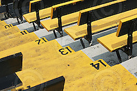 July 12, 2008; Hamilton, ON, CAN; Ivor Wynne Stadium detail - steps and seats. CFL football - Saskatchewan Roughriders defeated the Hamilton Tiger-Cats 33-28 at Ivor Wynne Stadium. Mandatory Credit: Ron Scheffler.