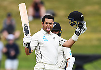 3rd December, Hamilton, New Zealand;  New Zealand batsman Ross Taylor celebrates his century during play day 5 of the 2nd test cricket match between New Zealand and England at Seddon Park, Hamilton, New Zealand.
