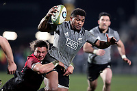 Waisake Naholo in action during the Game of Three Halves between the NZ All Blacks and Canterbury at AMI Stadium in Christchurch, New Zealand on Friday, 10 August 2018. Photo: Martin Hunter / lintottphoto.co.nzz