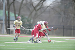St. George's vs. Evangelical Christian School in lacrosse in Cordova, Tenn. on Thursday, March 3, 2016. St. George's scored two goals in the final 44 seconds to win 7-6.