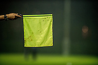 Monday  19 December 2014<br /> Pictured: Off side linesman flag <br /> Re: Swansea City U23 v Middlesbrough u23 at the Landore Training Facility, Swansea, Wales, UK