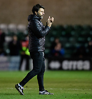 Lincoln City manager Danny Cowley applauds the fans at the final whistle<br /> <br /> Photographer Chris Vaughan/CameraSport<br /> <br /> Emirates FA Cup First Round - Lincoln City v Northampton Town - Saturday 10th November 2018 - Sincil Bank - Lincoln<br />  <br /> World Copyright © 2018 CameraSport. All rights reserved. 43 Linden Ave. Countesthorpe. Leicester. England. LE8 5PG - Tel: +44 (0) 116 277 4147 - admin@camerasport.com - www.camerasport.com