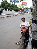 Street scene in Mandalay, Myanmar