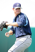 April 12, 2009:  Pitcher Craig James of the Charlotte Stone Crabs, Florida State League Class-A affiliate of the Tampa Bay Rays, during a game at Hammond Stadium in Fort Myers, FL.  Photo by:  Mike Janes/Four Seam Images
