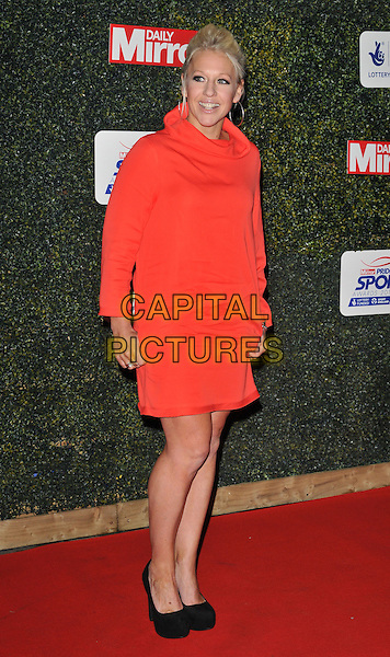 Gail Emms attends the Daily Mirror Pride of Sport Awards 2015, Grosvenor House Hotel, Park Lane, London, England, UK, on Wednesday 25 November 2015. <br /> CAP/CAN<br /> &copy;Can Nguyen/Capital Pictures