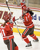Brooke Fernandez (SLU - 10), Michelle Ng (SLU - 3) - The Boston College Eagles defeated the visiting St. Lawrence University Saints 6-3 (EN) in their NCAA Quarterfinal match on Saturday, March 10, 2012, at Kelley Rink in Conte Forum in Chestnut Hill, Massachusetts.