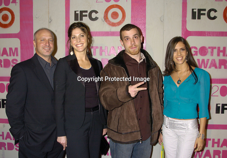 """Cast of """"On The Outs""""..at The 14th Annual Gotham Awards Gala presented by IFP/New York on December 1, 2004 at Pier Sixty at Chelsea Piers...Photo by Robin Platzer, Twin Images"""