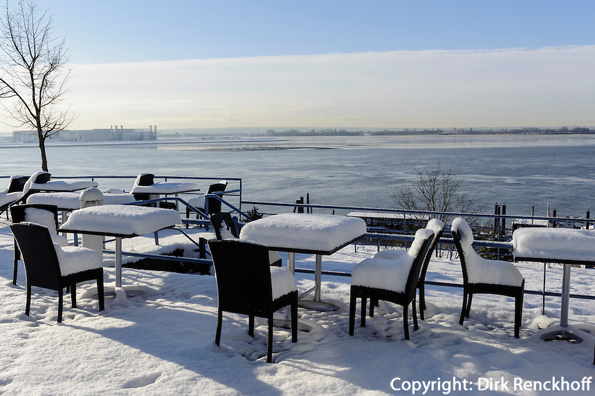 Winter in Blankenese, Hamburg, Deutschland