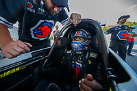 Jun 10, 2017; Englishtown , NJ, USA; NHRA top fuel driver Antron Brown during qualifying for the Summernationals at Old Bridge Township Raceway Park. Mandatory Credit: Mark J. Rebilas-USA TODAY Sports