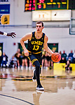 23 January 2019: UMBC Retriever Forward Joe Sherburne, a Graduate student from Whitefish Bay, WI, in second half action against the University of Vermont Catamounts at Patrick Gymnasium in Burlington, Vermont. Sherburne led the Retrievers with 20 points as they handed the Catamounts their first America East loss of the season 74-61. Mandatory Credit: Ed Wolfstein Photo *** RAW (NEF) Image File Available ***