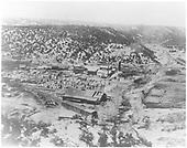 La Madera sawmill and lumber yards, view looking west toward Canada de la Madera.<br /> Hallack &amp; Howard Lumber Co.  La Madera, NM  circa 1914-1925