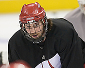 Jeff Likens - The University of Wisconsin Badgers practiced on Wednesday, April 5, 2006, at the Bradley Center in Milwaukee, Wisconsin.  The Badgers won the Title by defeating Maine on April 6 and Boston College on April 8.