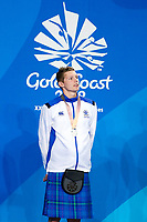Picture by Alex Whitehead/SWpix.com - 10/04/2018 - Commonwealth Games - Swimming - Optus Aquatics Centre, Gold Coast, Australia - Duncan Scott of Scotland wins Silver in the Men's 200m Individual Medley final.