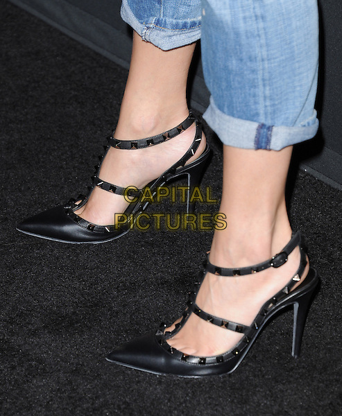 Vanessa Hudgens' shoes<br /> The Myspace Event held at The El Rey Theatre in Los Angeles, California, USA.<br /> June 12th, 2013   <br /> detail feet heels black spike jeans denim<br /> CAP/DVS<br /> &copy;DVS/Capital Pictures
