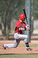 Cincinnati Reds second baseman Shane Mardirosian (41) during an Instructional League game against the Kansas City Royals on October 16, 2014 at Goodyear Training Complex in Goodyear, Arizona.  (Mike Janes/Four Seam Images)