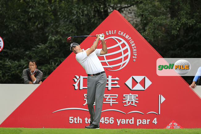 Matt Kucher (USA) on the 5th tee during the final round of the WGC-HSBC Champions, Sheshan International GC, Shanghai, China PR.  30/10/2016<br /> Picture: Golffile | Fran Caffrey<br /> <br /> <br /> All photo usage must carry mandatory copyright credit (&copy; Golffile | Fran Caffrey)