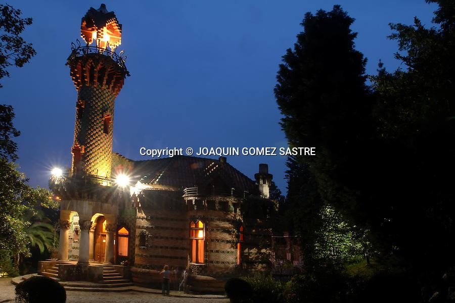 COMILLAS CANTABRIA.Vista al atardecer del Capricho, obra del arquitecto Gaudi en el pueblo cantabro de Comillas..foto JOAQUIN GOMEZ SASTRE©