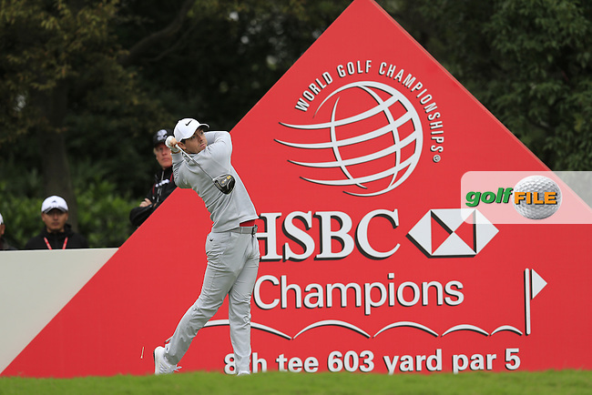 Rory McIlroy (NIR) on the 8th tee during round 3 of the WGC-HSBC Champions, Sheshan International GC, Shanghai, China PR.  29/10/2016<br /> Picture: Golffile | Fran Caffrey<br /> <br /> <br /> All photo usage must carry mandatory copyright credit (&copy; Golffile | Fran Caffrey)