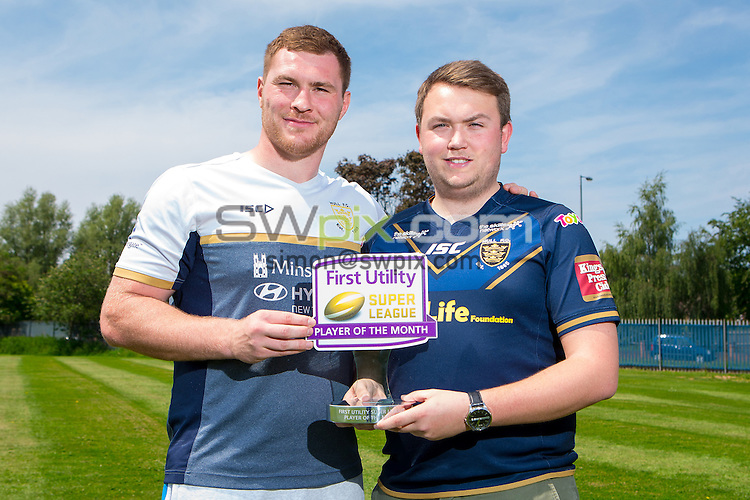 Picture by Alex Whitehead/SWpix.com - 07/06/2016 - Rugby League - First Utility Super League - County Road Training Ground, Hull, England - First Utility Super League Player of the Month for May, Hull FC's Scott Taylor.