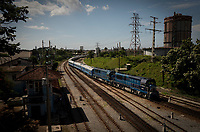HAVANA, CUBA - JULY14: New train rolls through the island during a first trip with passengers from Havana to Santiago de Cuba, on July13, 2019. The first train start working for the cuban passenger to Santiago de Cuba, 516 miles. The new equipment made in China. (Photo by Eliana Aponte/VIEWpress)