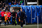 The two opposing managers, Paul Lambert, left, and the visitor's Carl Robinson emerging for the second-half as Ipswich Town play Oxford United in a SkyBet League One fixture at Portman Road. Both teams were in contention for promotion as the season entered its final months. The visitors won the match 1-0 through a 44th-minute Matty Taylor goal, watched by a crowd of 19,363.