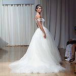 Model walks runway in a Kinsley gown from the Casablanca Bridal collection at the Casablanca Bridal 20th anniversary celebration runway show, on October 8, 2017; during New York Bridal Fashion Week Spring 2018.