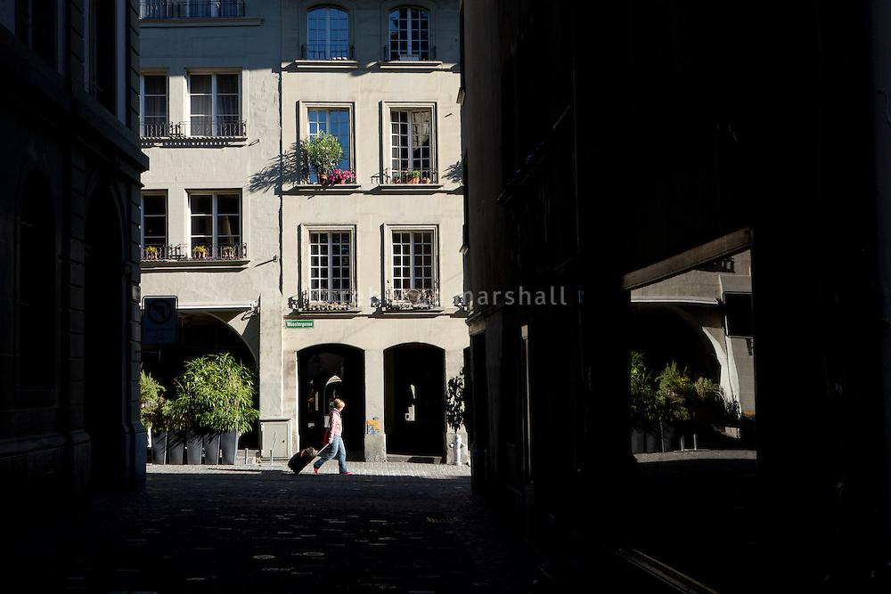 Alley leading onto Münstergasse, Bern, Switzerland, 28 August 2011