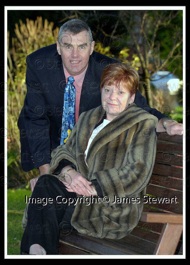 06/12/2006       Copyright Pic: James Stewart.File Name :sct_jspa02_lottery.CHARLES AND LIZ MACDONALD FROM NEWTONMRE WHO WON £1.2M.James Stewart Photo Agency 19 Carronlea Drive, Falkirk. FK2 8DN      Vat Reg No. 607 6932 25.Office     : +44 (0)1324 570906     .Mobile   : +44 (0)7721 416997.Fax         : +44 (0)1324 570906.E-mail  :  jim@jspa.co.uk.If you require further information then contact Jim Stewart on any of the numbers above.........