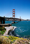 California: San Francisco.  Golden Gate Bridge.  Photo #: caggbr103..Photo copyright Lee Foster, 510/549-2202, lee@fostertravel.com, www.fostertravel.com