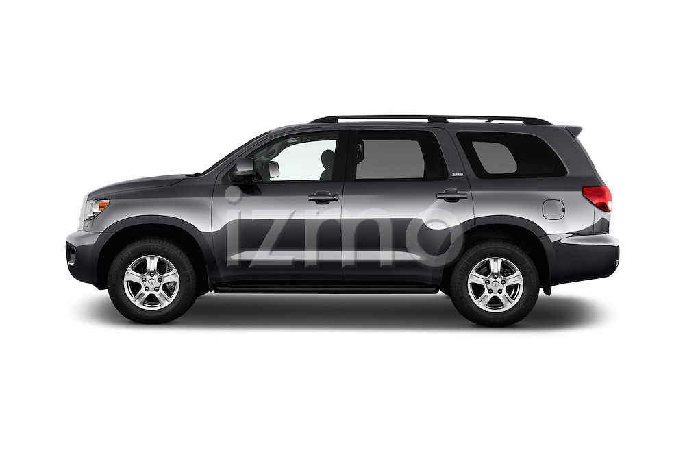 Car Driver side profile view of a 2016 Toyota Sequoia 5.7-Auto-SR5 5 Door SUV Side View
