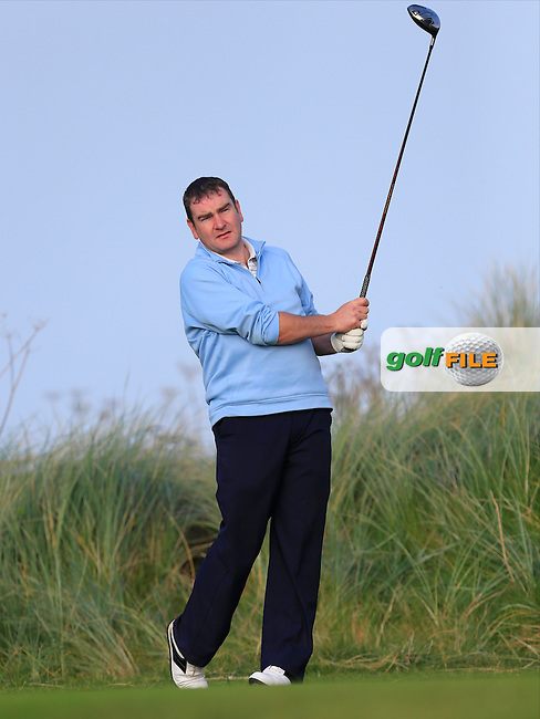 Derek Power (WIT) on the 17th tee during Round 1 of the Irish Intervarsity Championship at Rosslare Golf Club on Wednesday 4th November 2015.<br /> Picture:  Thos Caffrey / www.golffile.ie