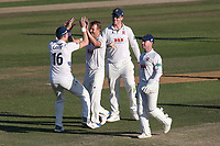 Neil Wagner of Essex celebrates taking the wicket of George Bartlett during Essex CCC vs Somerset CCC, Specsavers County Championship Division 1 Cricket at The Cloudfm County Ground on 28th June 2018