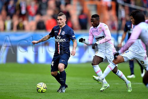 18.01.2015. Paris, France. French League 1 football. Paris St Germain versus Evian.  Marco Verratti (psg)